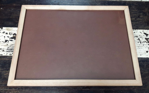 marco cuadro p/ diploma a3 30x42 madera natural con vidrio