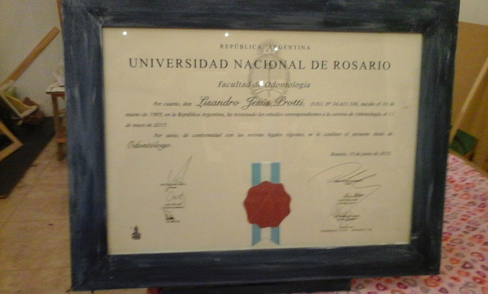 Marco Cuadro Titulo Universitario 50x40 Cm - $ 555,00 en Mercado Libre