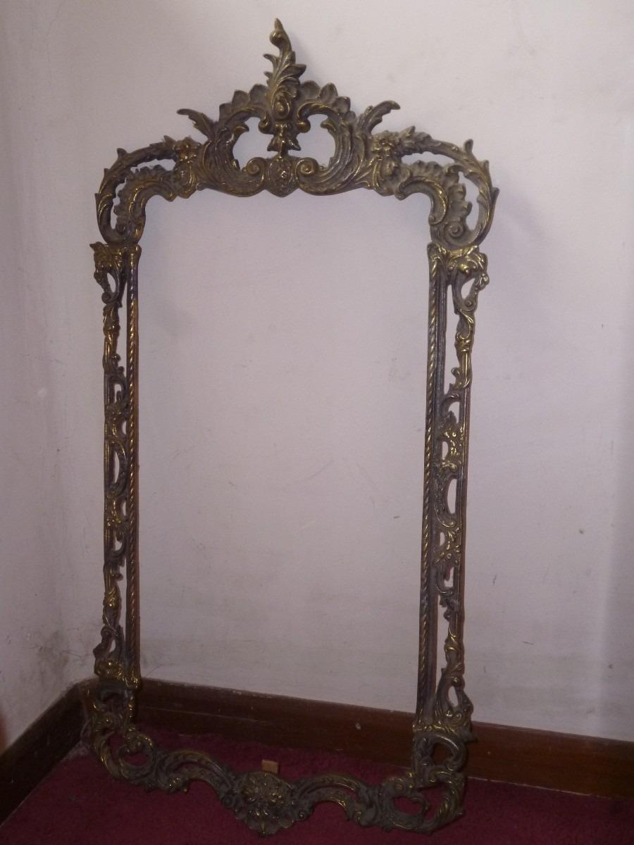 Marco de bronce para espejo s 210 00 en mercado libre for Marcos para espejos de pared