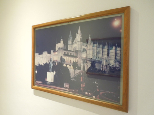 marco de cuadro de roble con doble vidrio