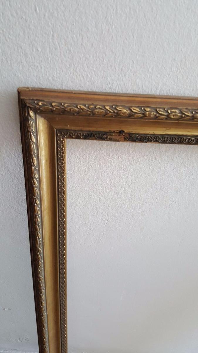 Marco De Cuadro Madera Tallada C/ Ornamentos Antiguo Vintage - $ 650 ...
