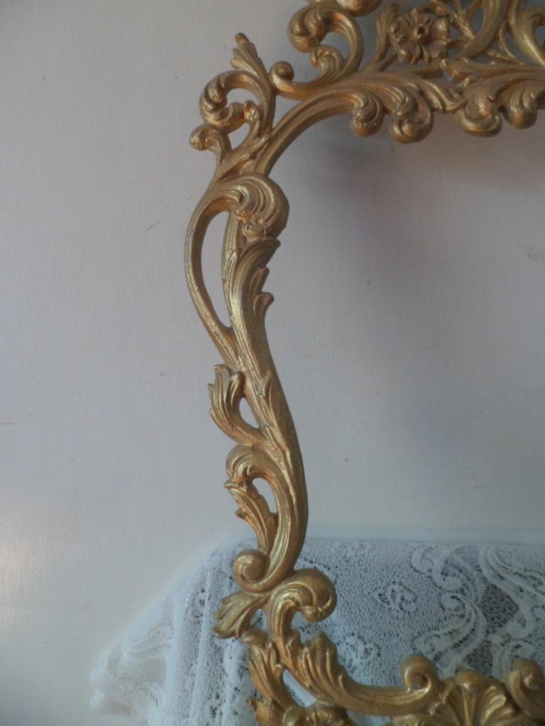 Marco De Espejo Estilo Victoriano En Aluminio - $ 970.00 en Mercado ...