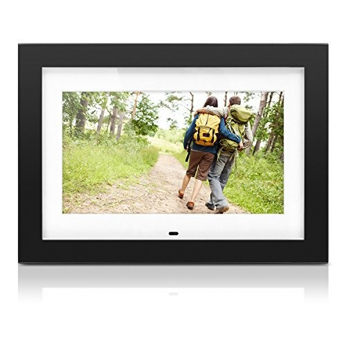 marco de fotos digital aluratek de 10 con soporte para video