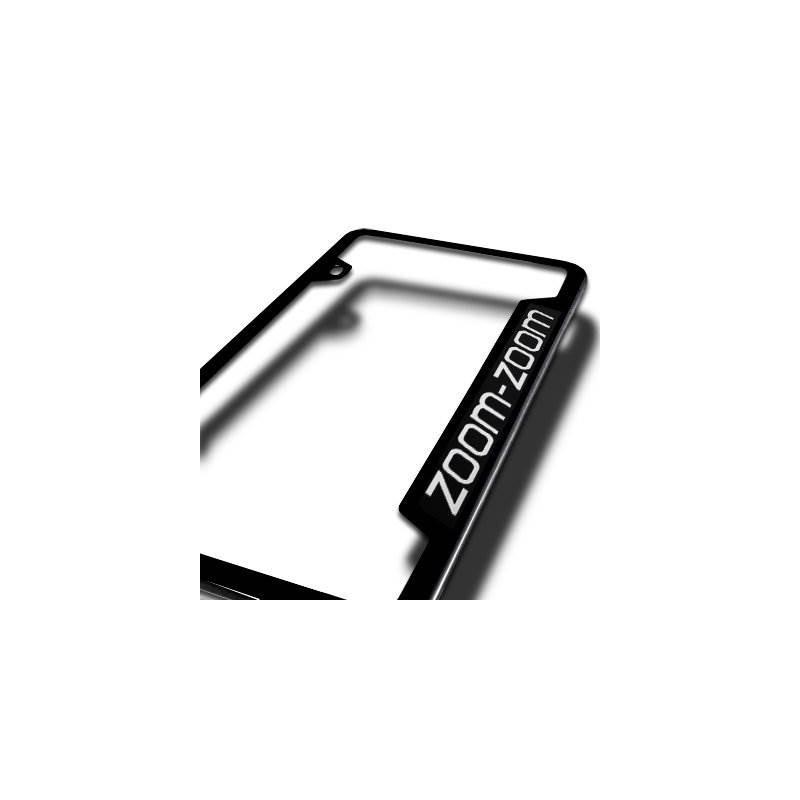 Marco De La Placa De Acero Negro Mazda Zoom-zoom, Oficial, H