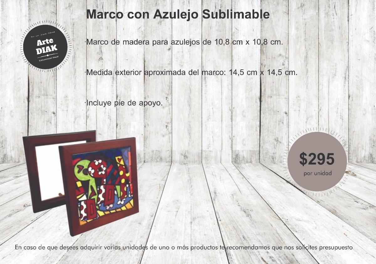 Marco De Madera Con Cerámica Personalizado 10x10 Cmts - $ 295,00 en ...