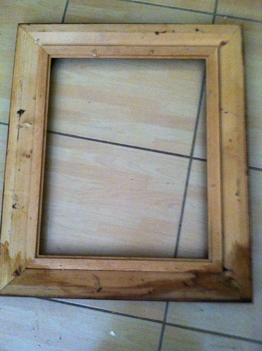 Marco de madera con nrgro para cuadro en mercado libre - Marcos de madera ...