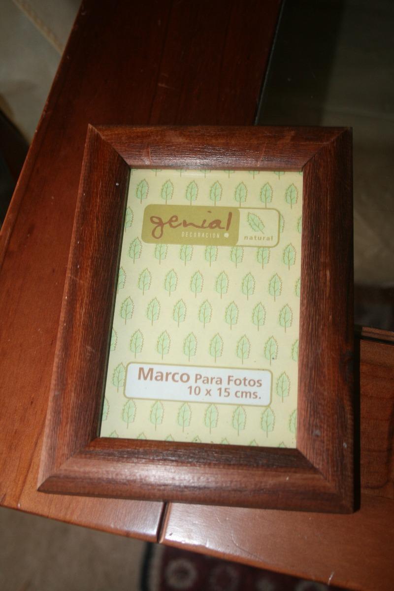 Marco De Madera Para Fotos 10 X 15 Cafe Oscuro - $ 1.500 en Mercado ...