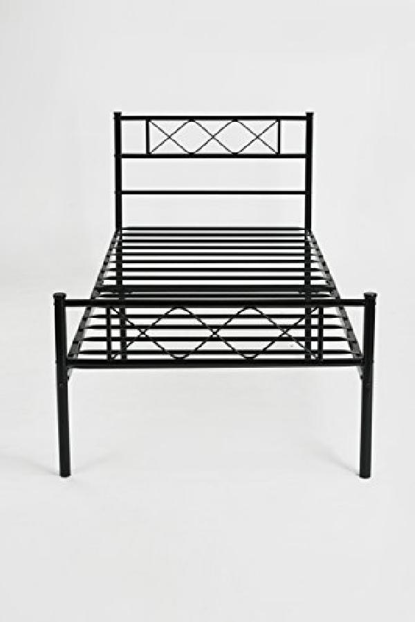 Marco De Metal X-design Plataforma Cama Negro Doble Tamano ...
