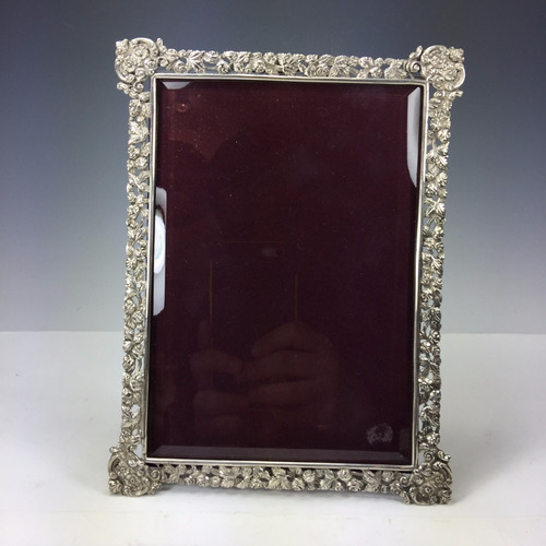 marco de plata inglesa sellado antiguo diseño de rosas