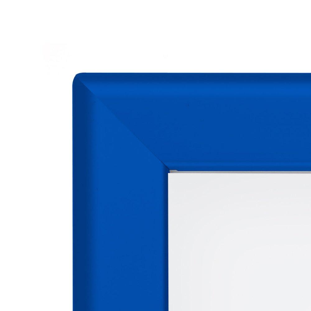 Marco De Póster Snapezo 36x48 Pulgadas Azul Perfil De A ...