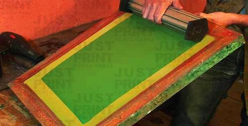 marco de serigrafia 120t revelado con tu diseño 40x50cm int