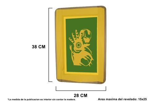 marco de serigrafia 90t revelado con tu diseño 20x30cm int