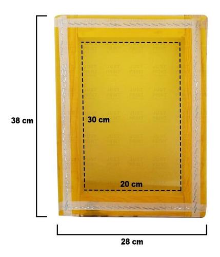marco de serigrafia madera 20x30 cm 90t para detalles finos