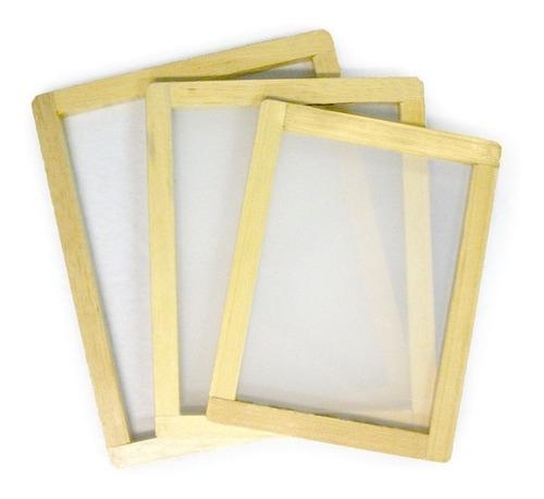 marco de serigrafia madera 40x50x2 cm 90t