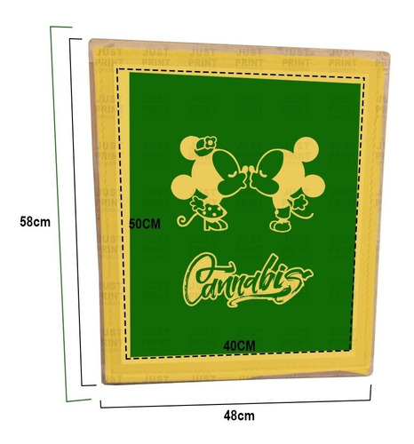 marco de serigrafia40 x 50 90t revelado con tu diseño carta