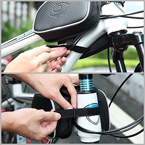 marco de tubo de bicicleta cycling pannier holder bag bolsa