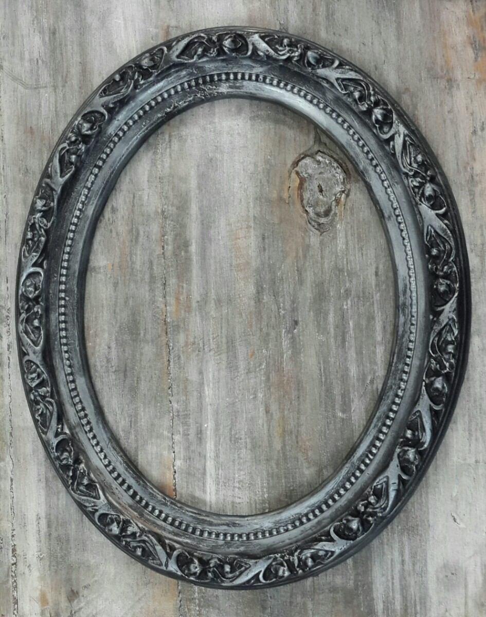 Marco De Yeso Ovalado Estilo Frances Antiguo - $ 350,00 en Mercado Libre