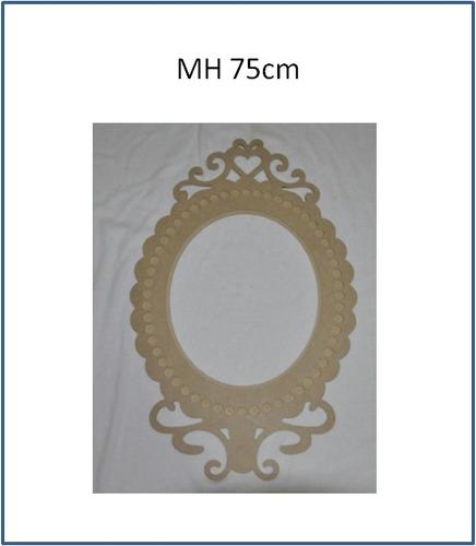 marco decorativo de 75cm en mdf crudo