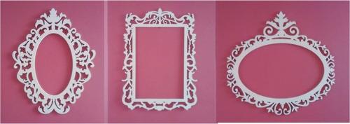 marco decorativo de 85cm mdf crudo decoracion candy bar