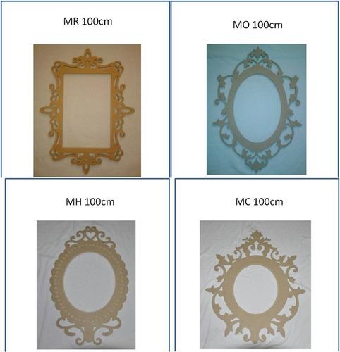marco decorativo especial para fotografia de 100cm mdf crudo