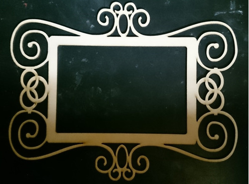 marco decorativo para fotos cortado con laser