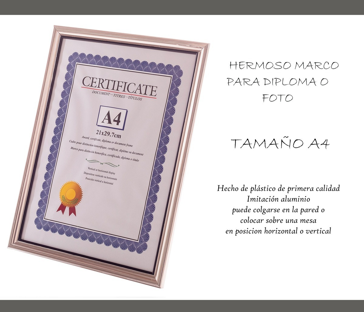 Marco Diploma Carta Certificado Foto A4 Graduación Oficina - $ 79.00 ...