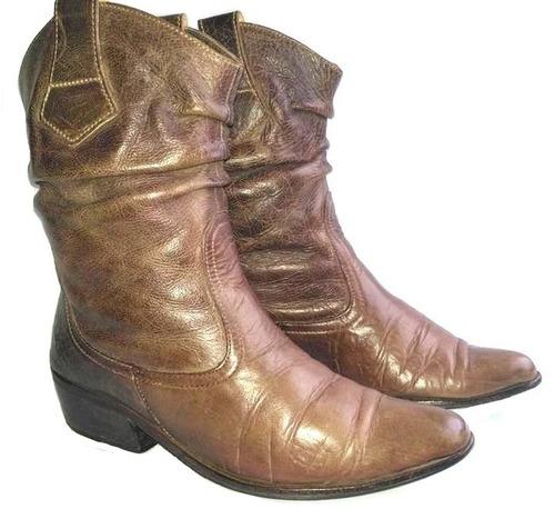 marco donatti botas 100% cuero .