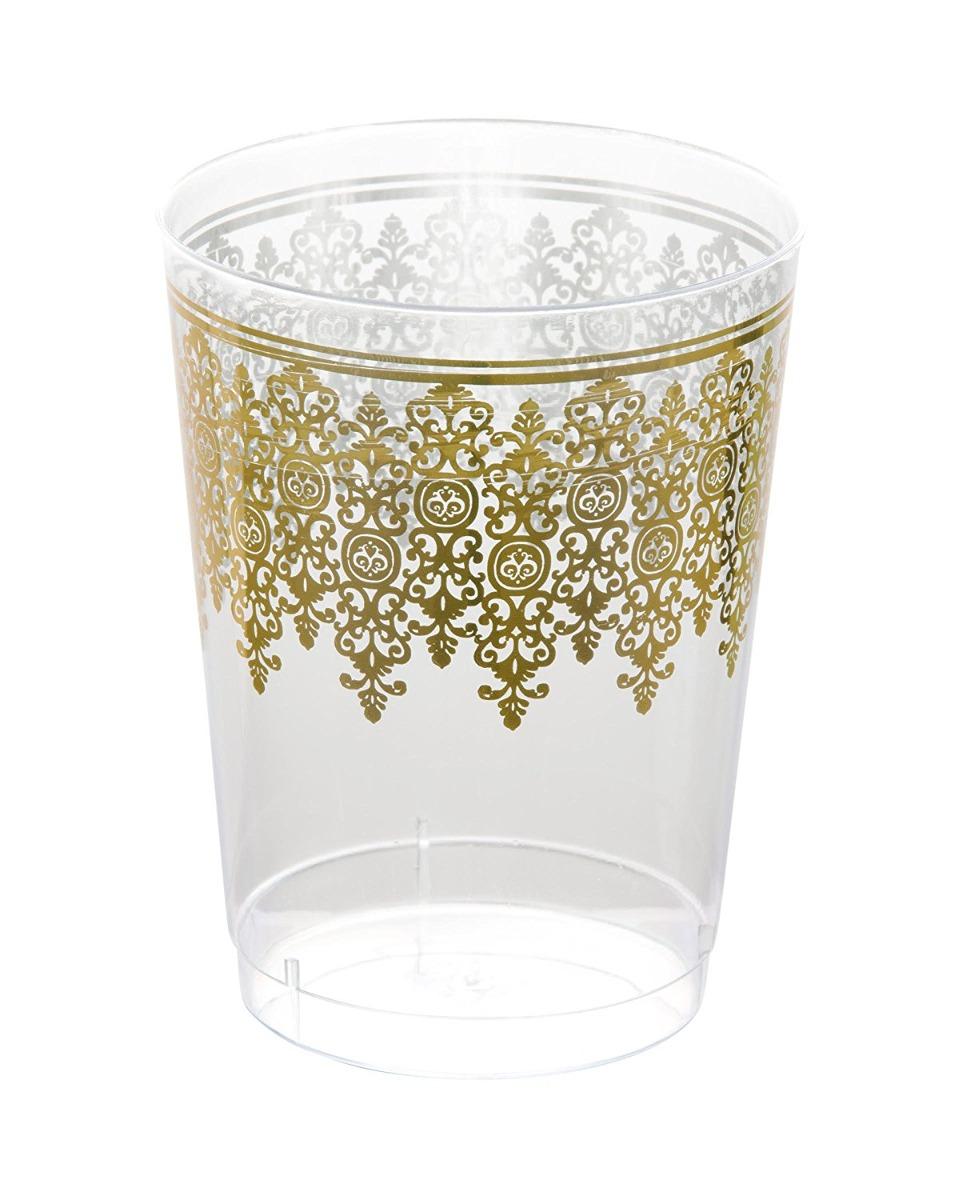 Marco Elegante Despejado 10 Oz. Vasos De Plástico (tazas) Co ...