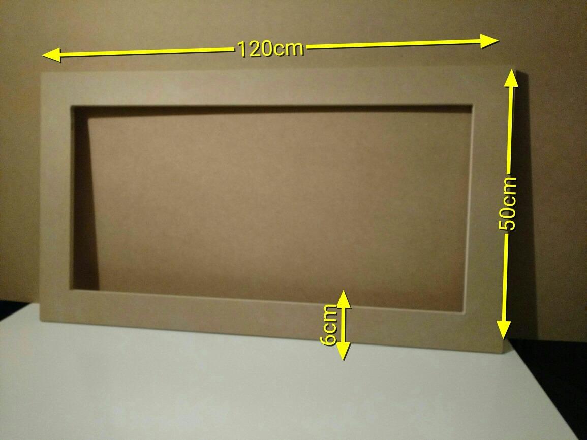 Marco Espejo Mdf (15mm) 120x50x6 Cms En Crudo Para Pintar - $ 229,00 ...