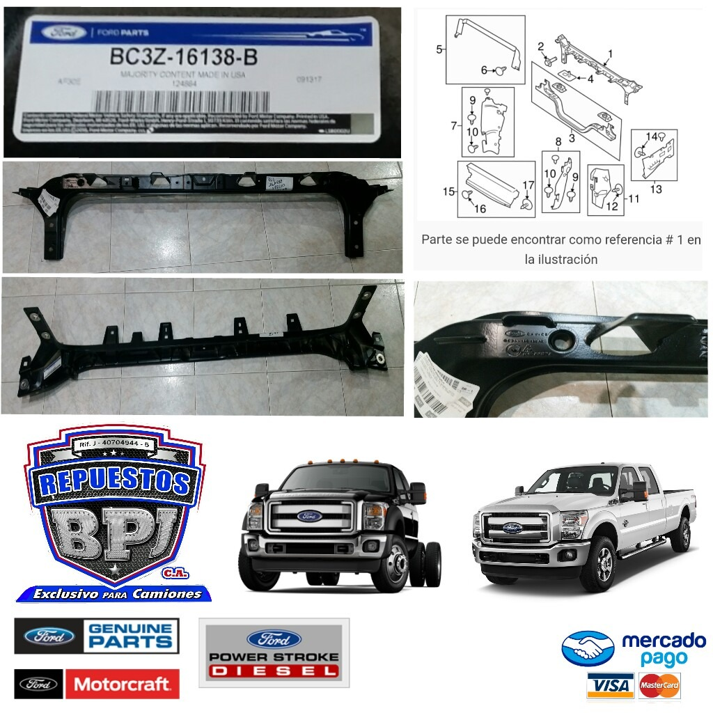 Marco Frontal Superior Para Ford Super Duty F250 F350 11-16 - Bs. 27 ...