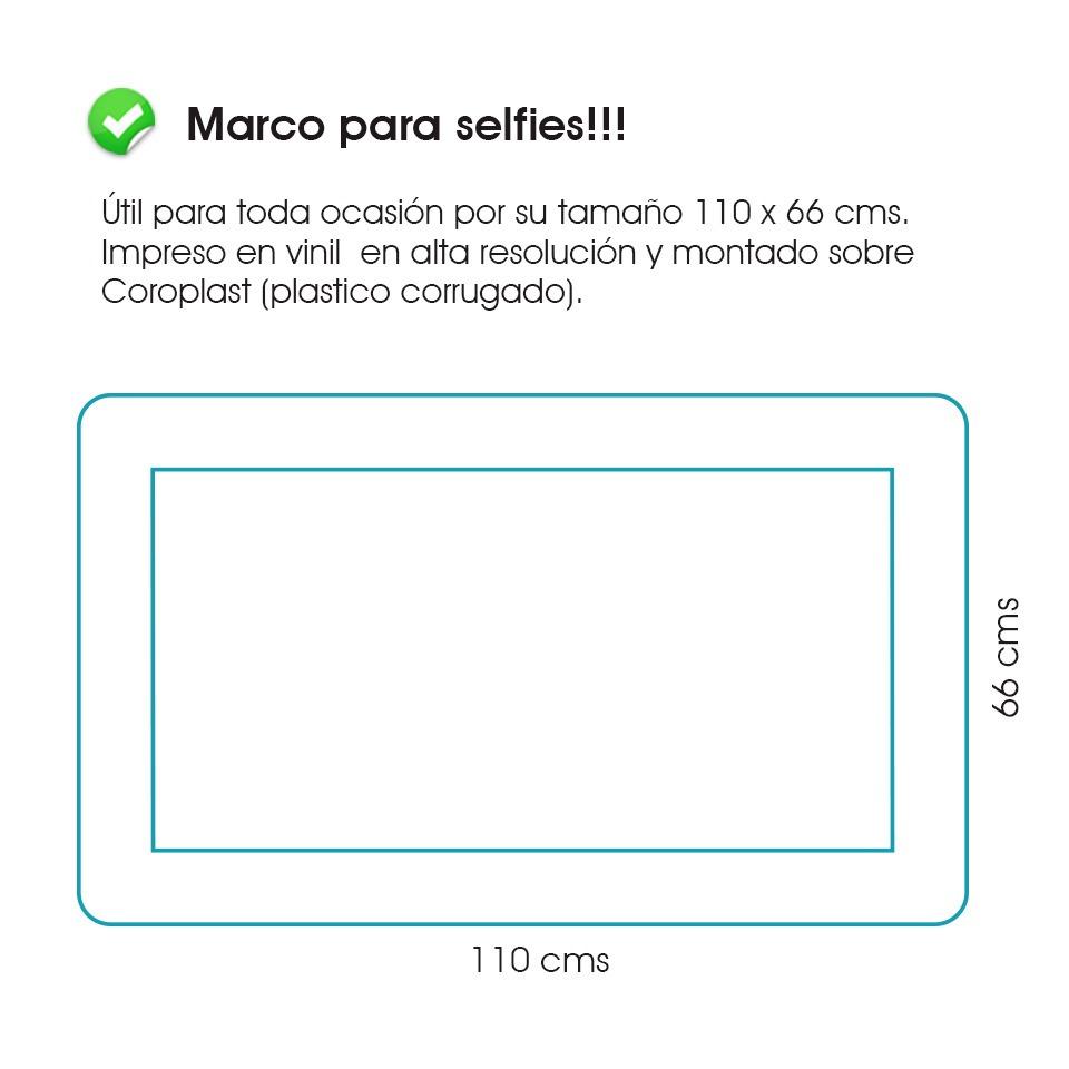 Marco Gigante 110x66 Cms. Personalizado Para Todo Evento ...