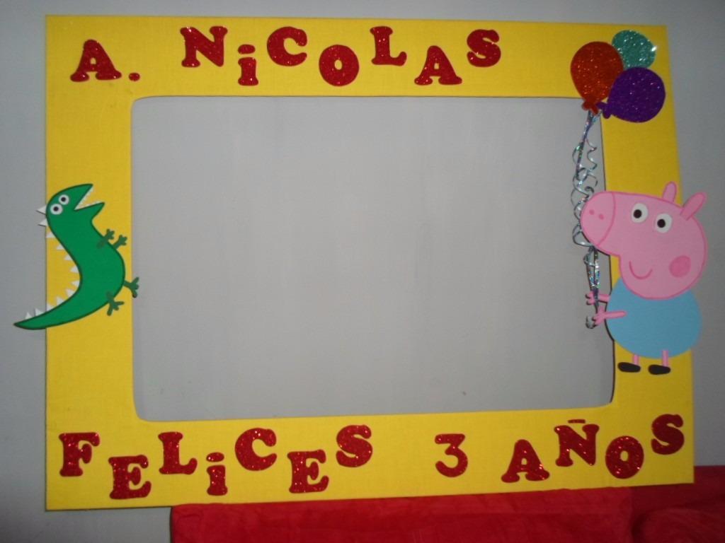 Cuadros de fiesta de peppa marco gigante para fiesta for Marcos para cuadros
