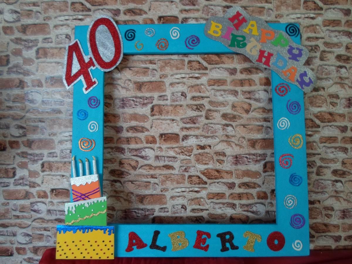 Marco Gigante Para Fotos Cumpleaños Happy - $ 380.00 en Mercado Libre