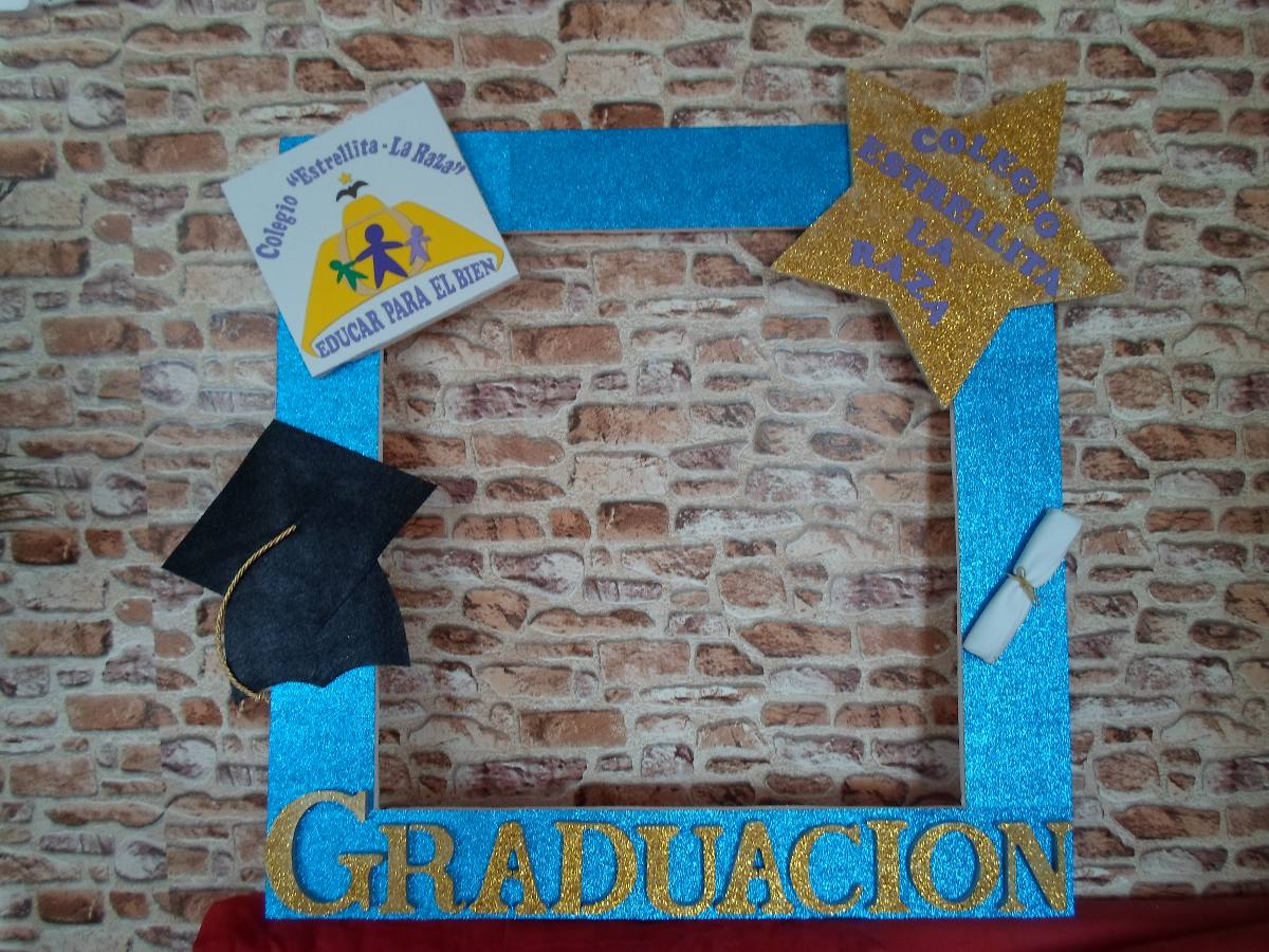 marco gigante para fotos graduacion escolar