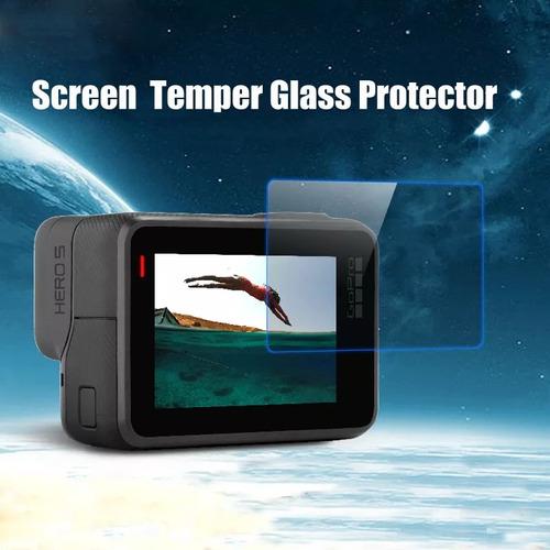marco gopro 6/5 mica cristal templado tapa de lente