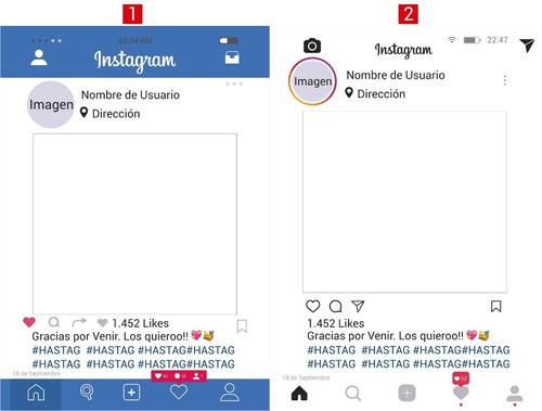 marco instagram facebook personalizado 50x70cm souvenir