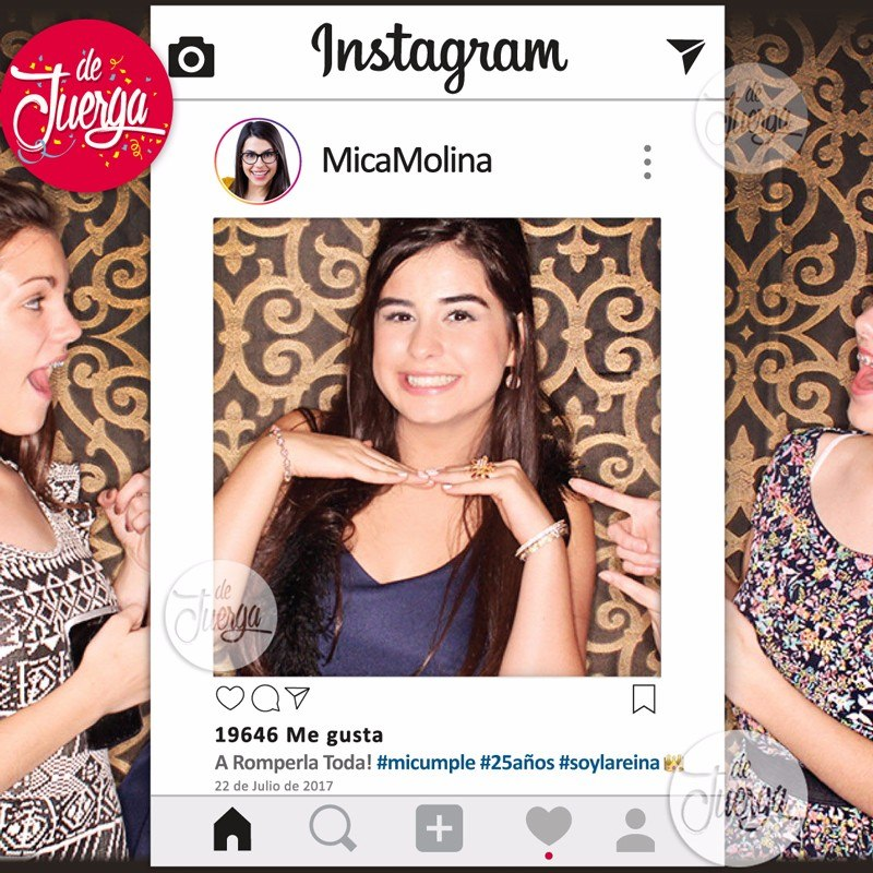 Marco Instagram Impreso 90x60 Facebook Whatsapp - $ 480,00 en ...