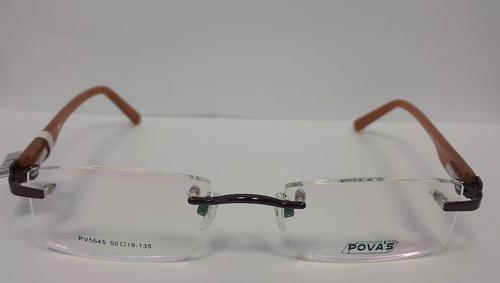 marco lentes / armazon marca povas - pv5645 hombre mujer
