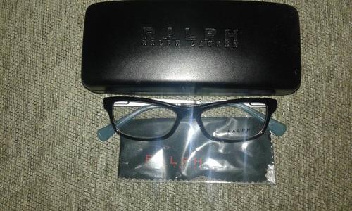 marco lentes ralph laurent marco negro patas celeste