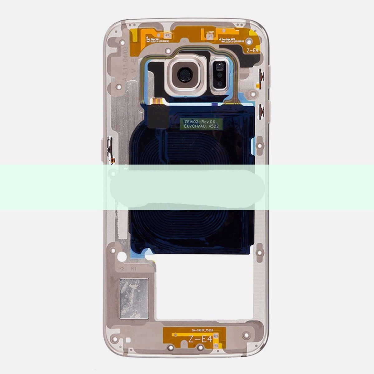 Marco Medio Camara Middle Gold Para Samsung Galaxy S6 Edge ...