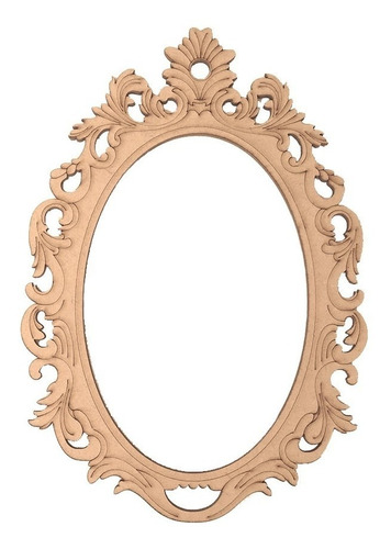 marco ovalado vintage de mdf 70 cm