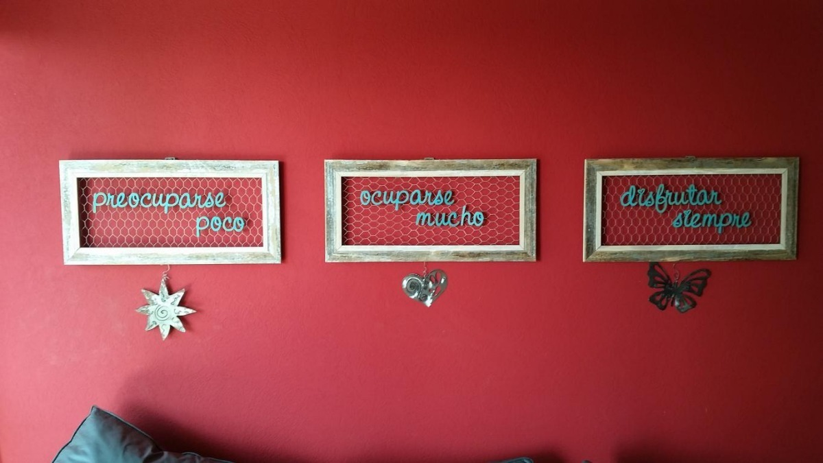 Marco Para Colgar Fotos Polaroid Rustico Vintage Madera Decapada Con Frase Deco Diseño Moderno 50000