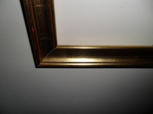 marco para cuadro  dorado a la hoja en buenas condiciones