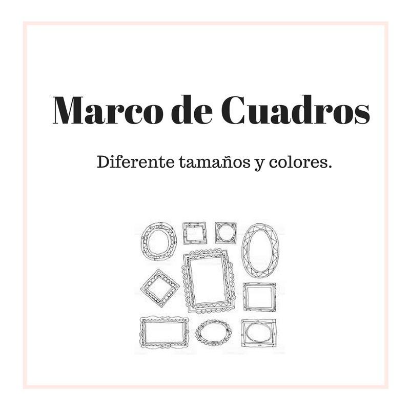 Marco Para Cuadros, Diferentes Tamaños Precio Por C/u - Bs. 9.500 ...