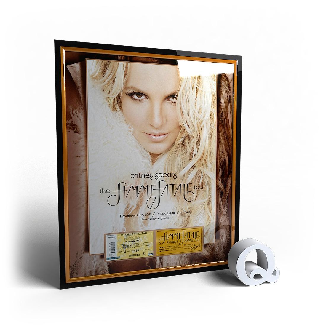 Marco Para Entrada Britney Spears Femme Fatale Tour 2011 - $ 1.350 ...