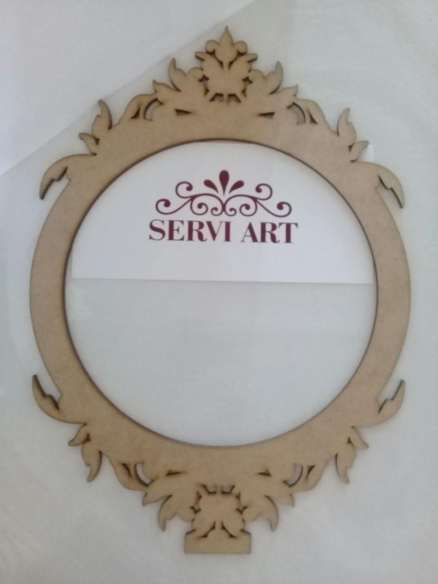 Marco para espejo con base calado en mdf 210 00 en for Molduras para espejos online