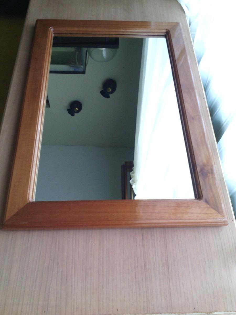 Marco para espejo en madera en mercado libre for Espejo pared madera