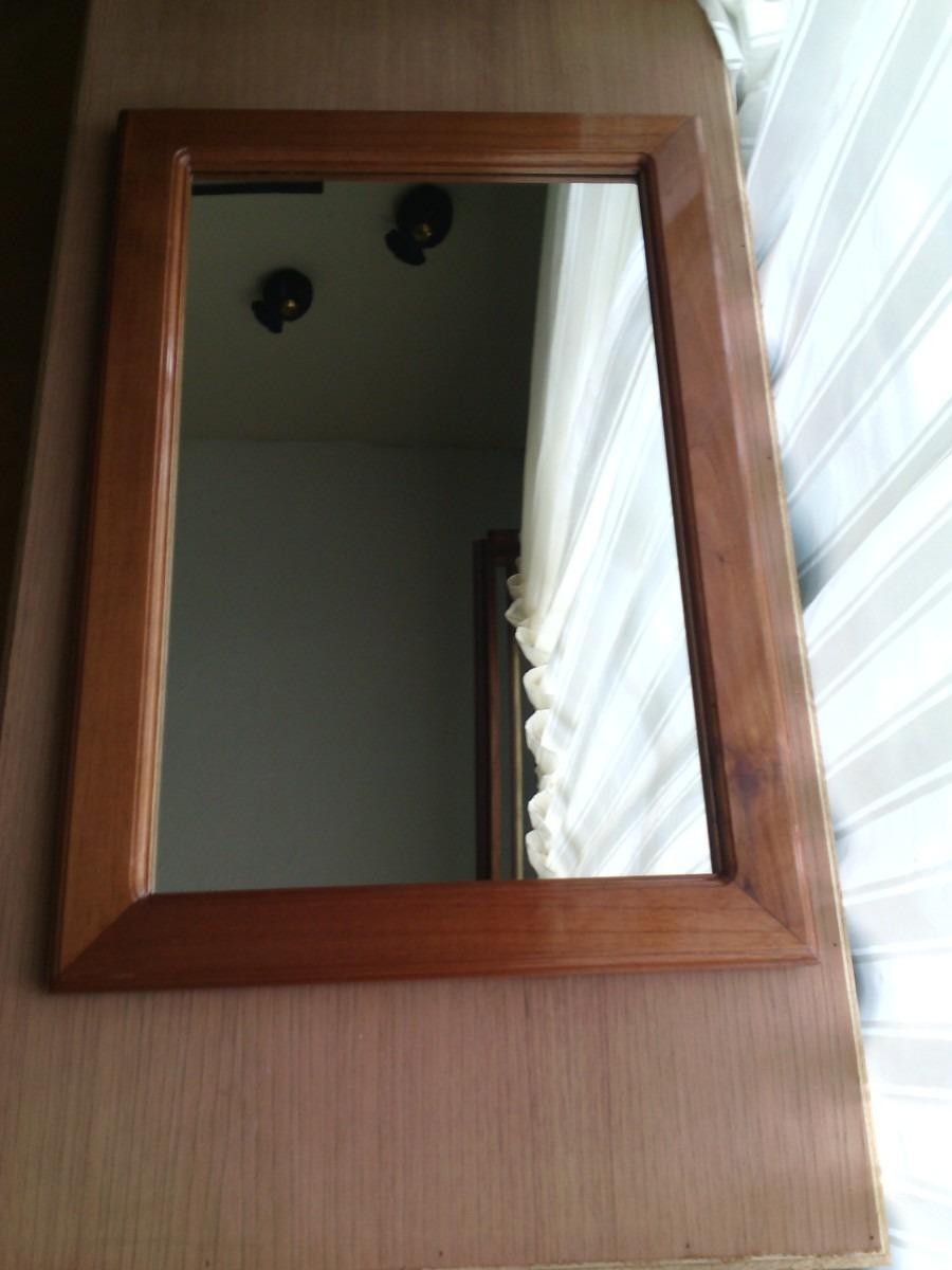 Marco para espejo en madera en mercado libre for Espejo rectangular con marco de madera