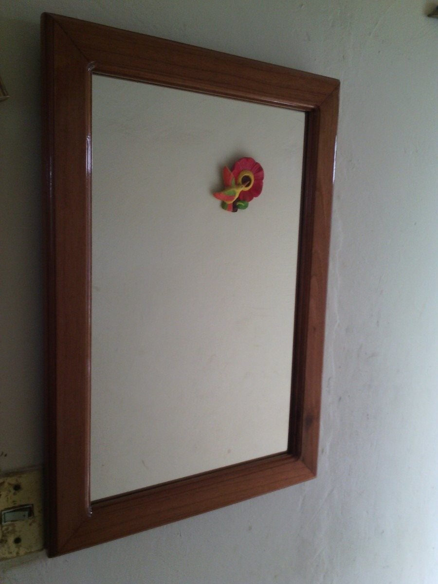 Marco para espejo en madera en mercado libre for Espejos de pared madera