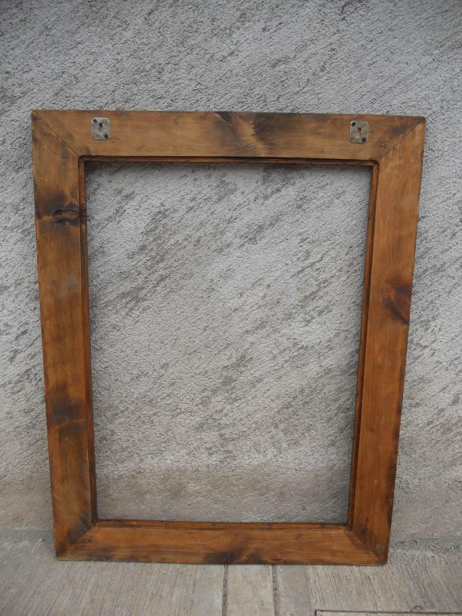 Marco para espejo r stico madera de calidad en mercado libre - Marcos de madera ...
